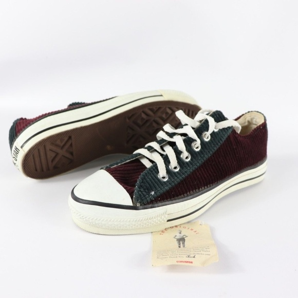 651c207a85f2 Vintage New Converse All Star Corduroy Shoes USA